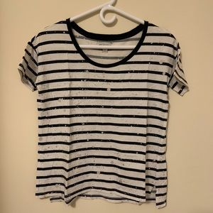 White Patterned Tee - American Eagle Outfitters